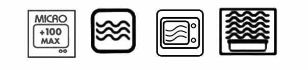 Iconos calentar en microondas